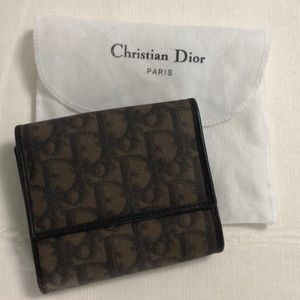 Vintage Dior oblique bifold wallet in brown
